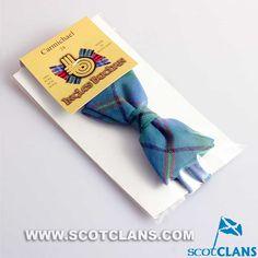 Clan Carmichael Tartan Wool Bow Tie.