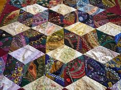 crazy quilting by Sharon Boggon