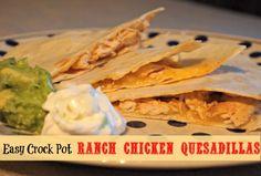 easy crock pot ranch chicken quesadilla recipe