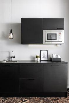 Office Kitchen by Apricus Work Office Design, Small Spaces, Flat Screen, Interior Design, Kitchen, Blood Plasma, Nest Design, Cooking, Home Interior Design
