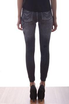Black Tribal Jeans Patterned Leggings   pakepake