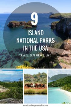 Best Island National Parks in the USA, including Acadia National Park, Dry Tortugas National Park, Channel Islands National Park and Isle Royale National Park.