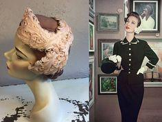 Ze is leven imiteert Art  vroege jaren 1950 Shell roze