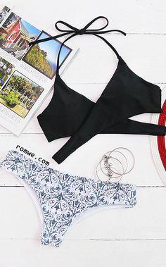 01c594d57dc Tribal Print Mix & Match Wrap Bikini Set Pretty Swimsuits, Cute Bikinis,  Women Swimsuits