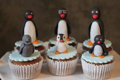 pingu! Jonas would love these. The kid is obsessed with the show!
