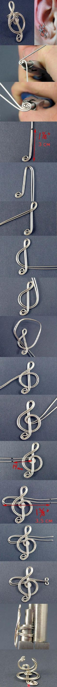 treble clef ear cuff