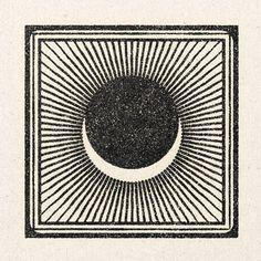 Eclipse in beige and black tones with sun rays. Grafik Design, Custom Logos, Art Inspo, Line Art, Printmaking, Graphic Art, Art Drawings, Illustration Art, Artsy