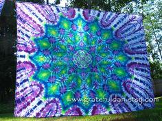 Tie Dye Mandala Tapestry by GratefulDan