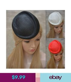 Hair Accessories Womens Sinamay Fascinator Hat Base Millinery Diy Craft Cocktail Party A272 #ebay #Fashion Fascinator Hats, Craft Cocktails, Tea Party, Craft Supplies, Hair Accessories, Diy Crafts, Ebay Clothing, Beauty, Base