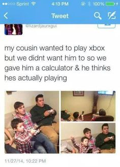 Kid wanted to play X-Box #Calculator, #Funny, #Games, #Kids