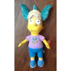 "Bart Simpson Plush Krusty Hat 20"" The Simpsons Collectable Matt Groening NWT"