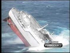 The Sinking Of The Cruise Ship Oceanos...look at all the floating junk left in the water