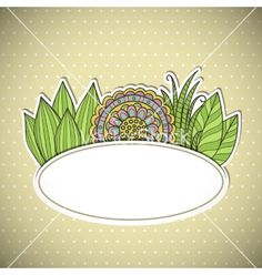 Floral frame vector by bellenixe on VectorStock®