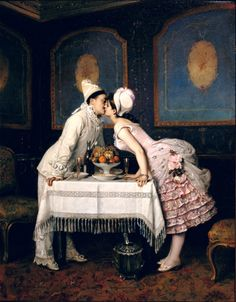 Cider House  The kiss Auguste Toulmouche(September 21, 1829 - October 16, 1890) was aFrenchpainter.
