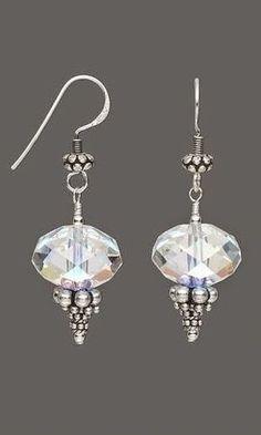 Free Jewelry Making Tutorials - Google+ Jewelry Design Earrings, Bead Earrings, Designer Earrings, Diy Jewelry, Beaded Jewelry, Jewelery, Silver Jewelry, Jewelry Making, Silver Beads