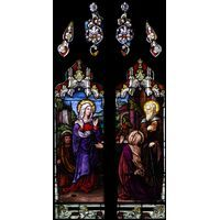 Mary Visits Elizabeth - stained glass