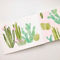 Lisa Rupp (@lisarupp) on instagram: sketchbook: cactus illustration and pattern design