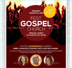 Gospel Fest Church Flyer - Party Flyer Templates For Clubs Business & Marketing