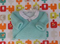 Gilet cache-coeur bébé tricot