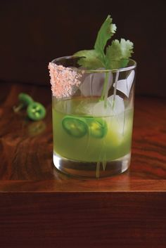 Gartending: Jalapeno and Cucumber Green Gargoyle. Who says cocktails are always frou frou, pink, super sweet concoctions? The spice in this cocktail proves that you needn't be afraid of a little fire when it comes to liquid refreshment.