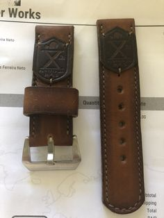Watch Bands, Wallet, Watches, Leather, Leather Art, Wristwatches, Clocks, Purses, Diy Wallet