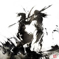 Hot Watercolor Paintings by Rola Chang. Chinese artist Rola Chang, aka Jung Shan from Taiwan. Asian inspired ink digital paintings combining eastern and western elements http://jungshan.deviantart.com/ http://jung-shan.blogspot.com/?m=1