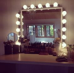 Hollywood lights makeup vanity mirror on etsy 19900 need this for do it yourself vanity mirror and lights solutioingenieria Images