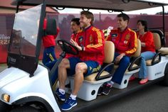 See how Sergio steered that golf cart? Like a champ!