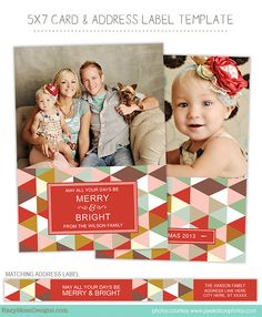 Holiday Card Template For Photographers Card Templates And Unique - Christmas card templates for photographers