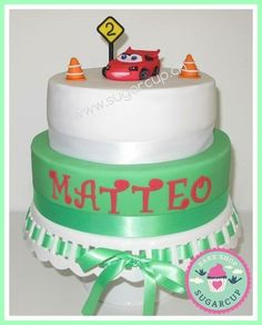 Disney Cars birthday cake with lightning Mcqueen Disney Cars Birthday, Lightning Mcqueen, Birthday Cake, Cakes, Baking, Christmas Ornaments, Holiday Decor, Cake Makers, Birthday Cakes