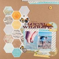 Hexagon Punch Scrapbooking |   Layout...