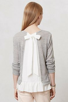 want to try this sweater insert and ruffle as a diy!