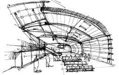 Typical sketch by an interior designer.