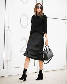 Black Skirt Outfits, Winter Skirt Outfit, Fall Outfits, Casual Outfits, Fashion Outfits, Fashion Trends, Modelos Fashion, Looks Street Style, Lookbook