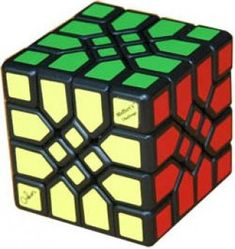 Mosaic Cube. Order 2 corner turning cube. Visible orientation of the corners.