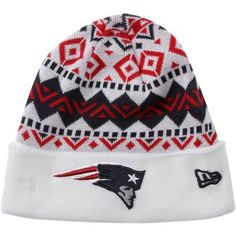 New Era New England Patriots Ivory Cuffed Knit Beanie