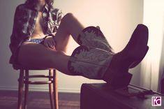 Cowboy Boudoir | Cowboy Valentine: Pretty in Boots | Boudoir Photographer Kelly Cameron