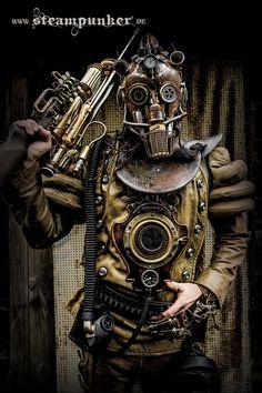Steampunk Warrior by steamworker.deviantart.com on @deviantART