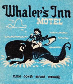 Whaler's Inn Anaheim matchcover by hmdavid, via Flickr
