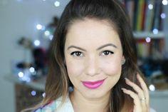 maquiagem basica com batom rosa