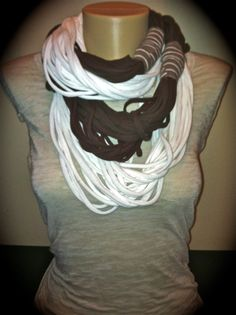 Infinity Wrap Scarf Brown White Wrapped by BellaInfinityScarves, $28.00  www.facebook.com/infinity0512