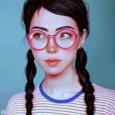 Expressive Female Portraits by Julia Razumova Amazing selection of work by Russian digital artist Julia Razumova. Digital Art Girl, Digital Portrait, Foto 3d, Fantastic Art, Face Art, Digital Illustration, Creative Art, Character Art, Pop Art