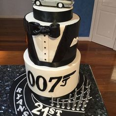 Image result for james bond themed birthday cakes