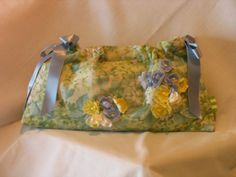 Floral Hydrangea Ribbon Clutch by fancibags on Etsy by fancibags, $45.00