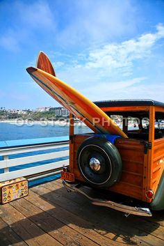 Classic Woody On San Clemente Pier CA