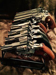 Rare Colt Collection on an 8-Gun Armory Rack   1) NIB Combat Cobra 2) NIB Colt…