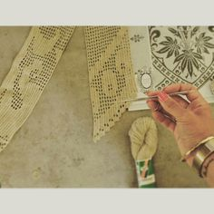 Summer lace curtain soon done♥ #lacecurtain #crochetcurtain #handmade #lovely project #summercrochet