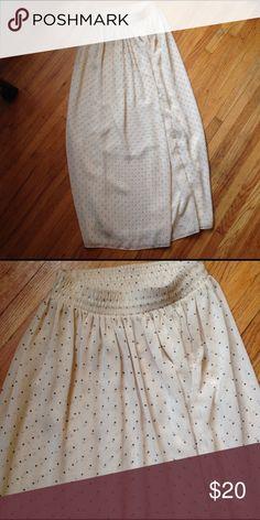 Beautiful Chiffon maxi skirt XS American Apparel. XS/ S. Black and cream polka dots. Elastic waist. Chiffon. American Apparel Skirts Maxi