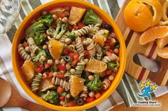 Chickpea Pasta Salad with Oranges | 3 Guiding Stars