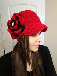 hat with visor  visored καπάκι  berretto a visiera  uncinetto